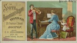 Advert for the Smith American Organ & Piano Company